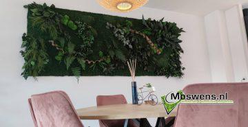 Jungleschilderij Junglewand plantenwand greenwall