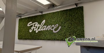 Moswand met logo Fitlance