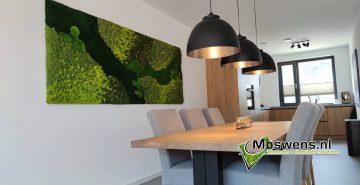 mosschilderij eetkamer mosmuur moswand keuken