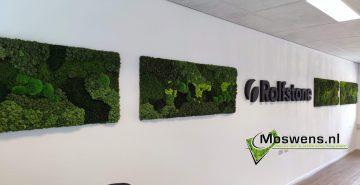 Moswand mosschilderijen met logo