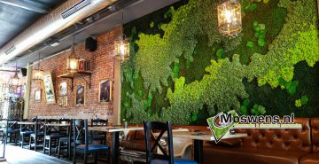 Moswand mossenmix Steakhouse Oosterhout