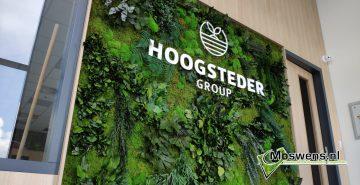 Junglewand plantenwand met logo kantoor hoogsteder