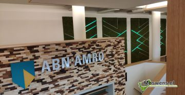 Moswand met led verlichting ABN AMRO